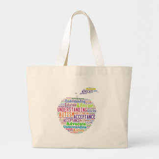 Autism Awareness Apple Design Products Jumbo Tote Bag