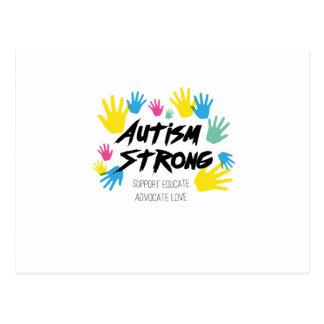 Autism Awareness Autism Strong Postcard