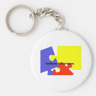 Autism Awareness Basic Round Button Key Ring
