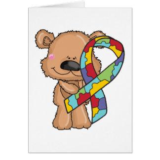 Autism Awareness Bear Card
