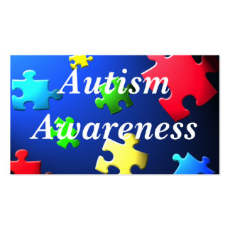Autism Awareness Behavior Information Card Double-Sided Standard Business Cards (Pack Of 100)