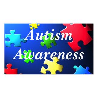 Autism Awareness Behavior Information Card Business Card Template