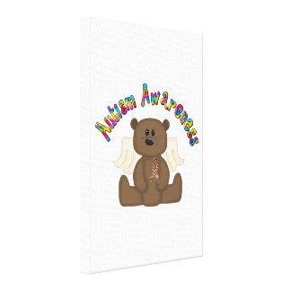Autism Awareness (boy bear) Stretched Canvas Print