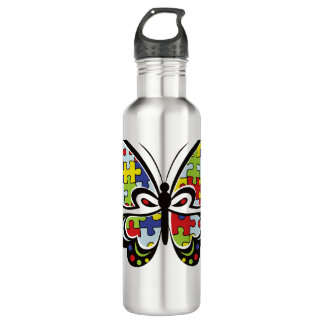 Autism Awareness Butterfly 710 Ml Water Bottle