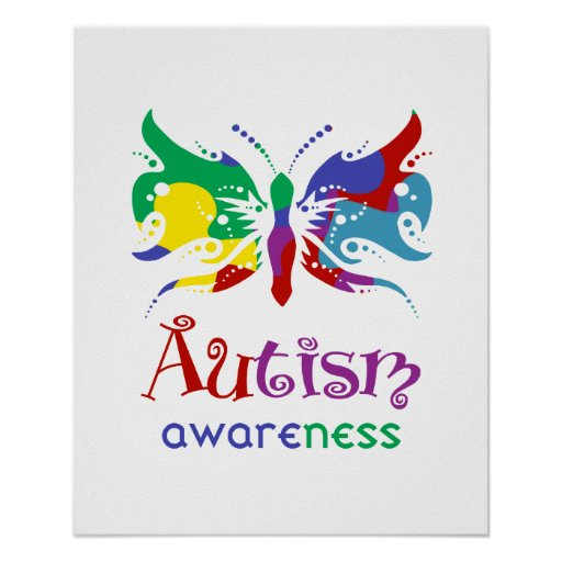 Autism Awareness Butterfly Print