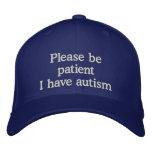 Autism Awareness Cap Embroidered Hats