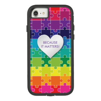 Autism Awareness Colorful Puzzle Piece Case-Mate Tough Extreme iPhone 8/7 Case