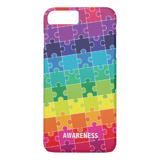 Autism Awareness Colorful Puzzle Pieces iPhone 8 Plus/7 Plus Case