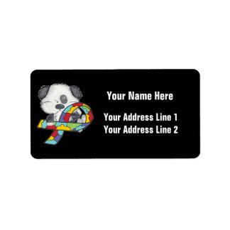 AUtism Awareness Dog Label