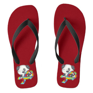 Autism Awareness Dog Thongs