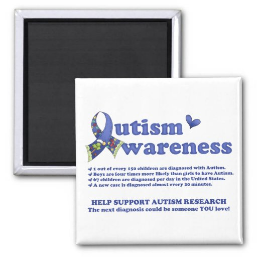 Autism Awareness (facts about Autism) Magnet