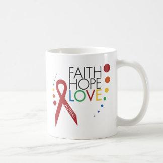 Autism Awareness - Faith, Hope, Love Coffee Mug