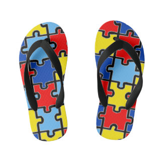 Autism Awareness Flip-Flops Kid's Thongs