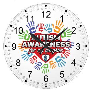 Autism Awareness for my Daughter Large Clock