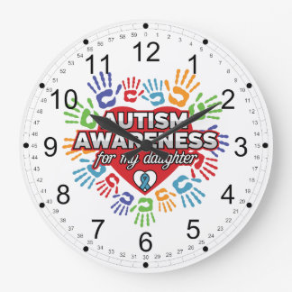 Autism Awareness for my Daughter Wall Clocks