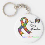Autism Awareness For My Grandson Keychains