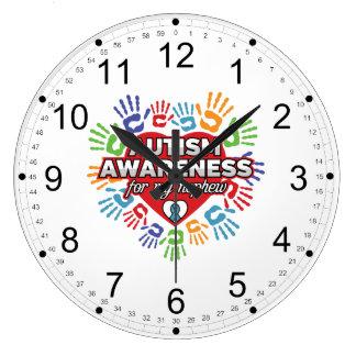 Autism Awareness for my Nephew Large Clock
