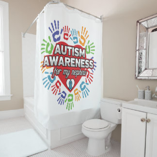 Autism Awareness for my Nephew Shower Curtain