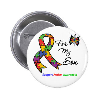 Autism Awareness For My Son 6 Cm Round Badge