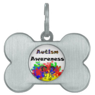 Autism Awareness Friends Pet Name Tag