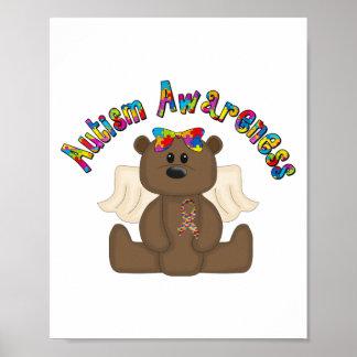 Autism Awareness (girl bear) Poster