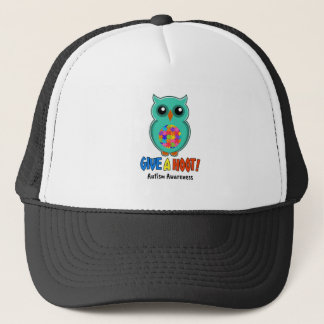 Autism Awareness Give A Hoot Owl Autism Trucker Hat