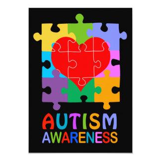 Autism Awareness Heart 13 Cm X 18 Cm Invitation Card