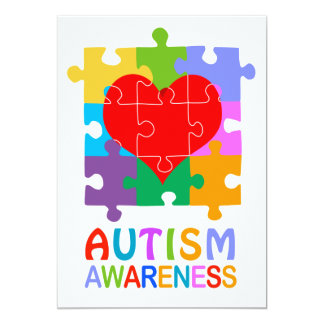 Autism Awareness Heart Card