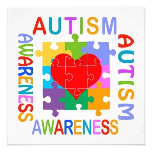 Autism Awareness Personalized Invitations