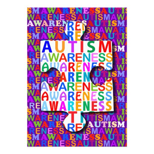 Autism Awareness Custom Announcement