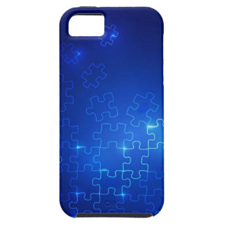 Autism Awareness iPhone 5 Case Glowing Blue Puzzle