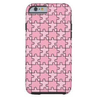 Autism Awareness iPhone 6 case Pink Puzzle Tough iPhone 6 Case