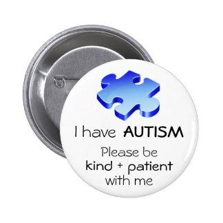 Autism Awareness Lapel Pin - Button