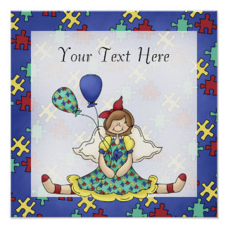Autism Awareness ~ Little Angel Girl D1 Print