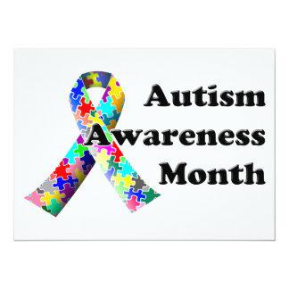 Autism Awareness Month 14 Cm X 19 Cm Invitation Card