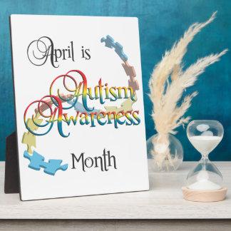 Autism Awareness Month Plaque