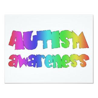 Autism Awareness original products! 11 Cm X 14 Cm Invitation Card