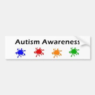 Autism Awareness Paint Bumper Sticker
