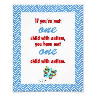 Autism Awareness Print Photo