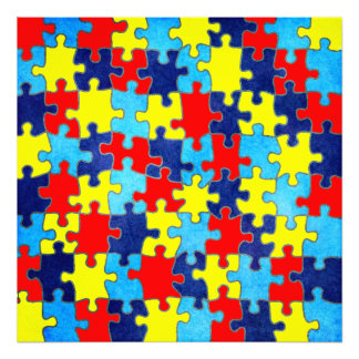 Autism Awareness-Puzzle by Shirley Taylor Art Photo