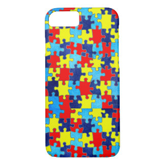 Autism Awareness-Puzzle by Shirley Taylor iPhone 8/7 Case