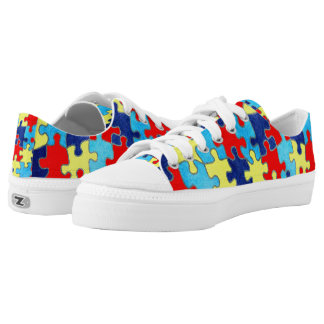 Autism Awareness-Puzzle by Shirley Taylor Low Tops