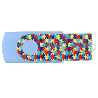 Autism Awareness-Puzzle by Shirley Taylor USB Flash Drive