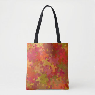Autism Awareness Puzzle Collage Art Tote Bag
