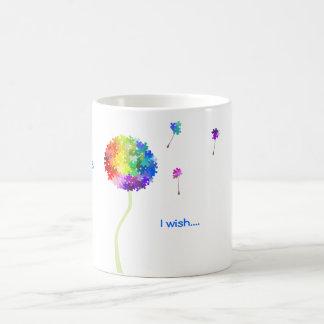 Autism Awareness Puzzle Dandelion Wishes Coffee Mug