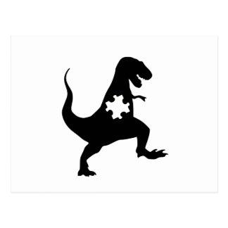 Autism Awareness Puzzle Dinosaur Postcard