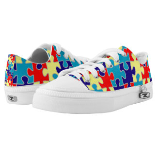 Autism Awareness Puzzle Low Tops