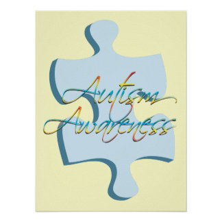Autism Awareness Puzzle Piece Poster Art