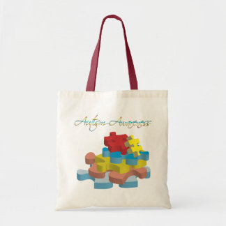 Autism Awareness Puzzle Pieces Bag