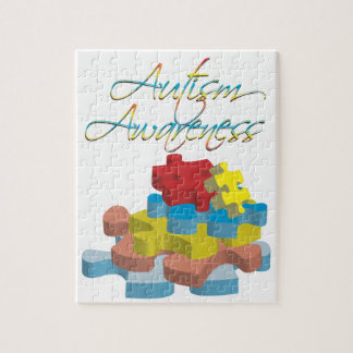 Autism Awareness Puzzle Pieces Puzzle